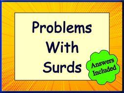 Problems Using Surds
