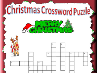 Christmas Crossword Puzzle with Answers