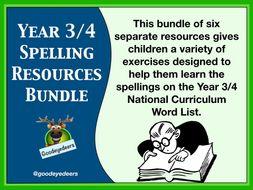 Year 3/4 Spelling Bundle