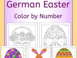 German Easter Color by Number
