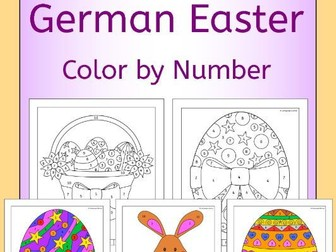 German Easter Color by Number