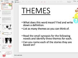 Themes - WHOLE S.O.W FOR 2 TERMS!