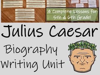 UKS2 History - Julius Caesar Biography Writing Unit