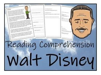 UKS2 Literacy - Walt Disney Reading Comprehension Activity
