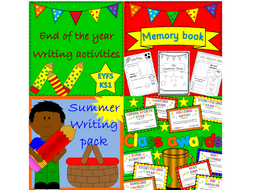 End of Term / Summer resources pack- writing, memory book, class certificates