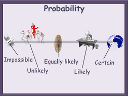 Probability PowerPoint + activity Simple and animated Functional Skills L2 GCSE