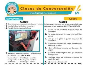 Juegos - Spanish Speaking Activity