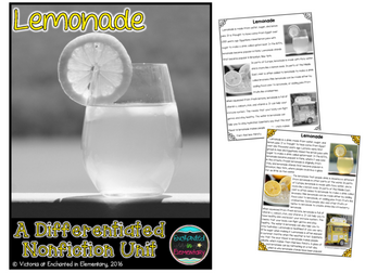 Differentiated Nonfiction Unit: Lemonade