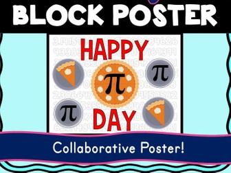 Pi Day Collaborative Poster! Team Work - Math - Happy Pi Day
