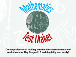 Mathematics Test Maker Free Version