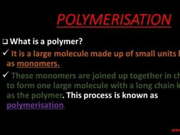 A comprehensive presentation on Polymerisation
