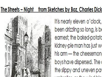GCSE English Language Paper 2 - 19th Century Non-Fiction Unseen Analysis - The Streets