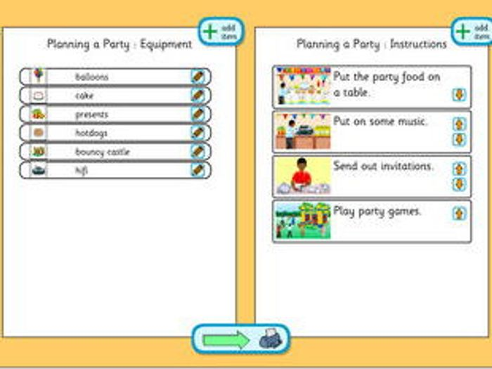 Planning A Party   Planning Template