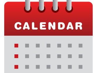 Calendar Poem - TIME WORK