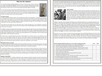 Who were the Amazons? - Reading Comprehension Worksheet / Text