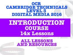 OCR CAMBRIDGE TECHNICALS DIGITAL MEDIA INTRODUCTION COURSE - 14 LESSONS & RESOURCES