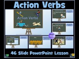 Verbs: Action Verbs: PowerPoint Lesson