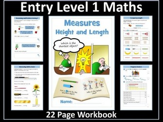 Measure: Height and Length Workbook - Entry Level 1 Maths