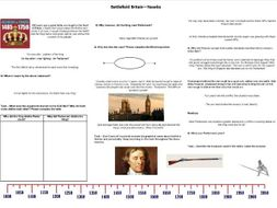 Battlefield Britain :The Battle of Naseby - Supporting Worksheet for the BBC Documentary
