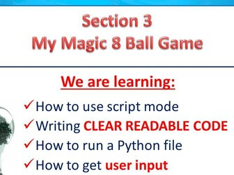 An introduction to Python PowerPoint Resource and video tutorials [Part 3 of 3]