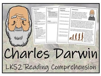 LKS2 Science - Charles Darwin Reading Comprehension Activity