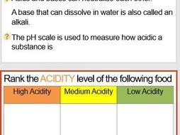 KS3 Science Acid and Alkalies Lesson Plan