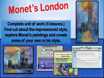 Monet Painting scheme of work KS2
