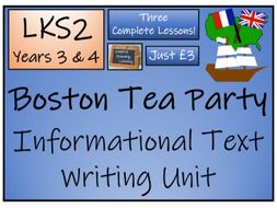 LKS2 History - Boston Tea Party Informational Text Writing Activity