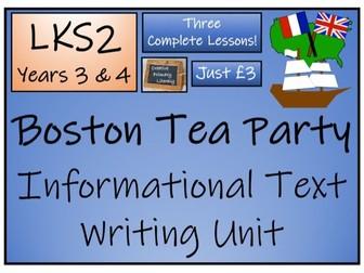 LKS2 History - Boston Tea Party Informational Text Writing Activity