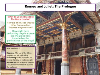 Romeo and Juliet The Prologue