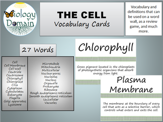 The Cell Vocabulary Cards