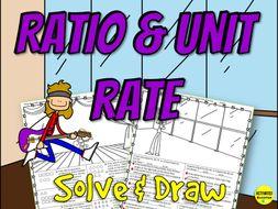 Ratios & Unit Rates Solve & Draw Activity