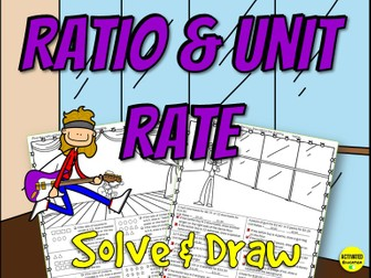 Ratios & Unit Rates Solve & Draw Activity