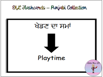 EAL Flashcards- Punjabi collection