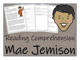 UKS2 Literacy - Mae Jemison Reading Comprehension Activity