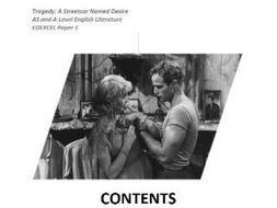STREETCAR NAMED DESIRE TRAGEDY TENNESSEE WILLIAMS AS A LEVEL NOTES