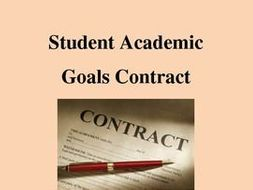 Student Academic Goal Contract