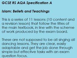 GCSE RS AQA A Islam Beliefs and Teachings