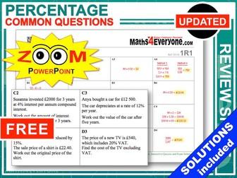 GCSE Revision (Percentages)