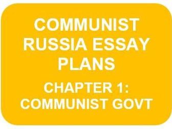 RUSSIA 1917-91 ESSAY PLANS: CH1