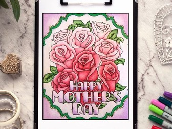 Happy Mother's Day – Free Coloring Page