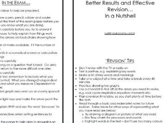 Revision ideas for Students