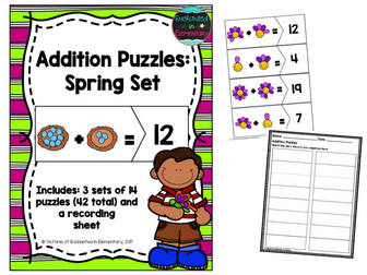 Addition Puzzles: Spring Set