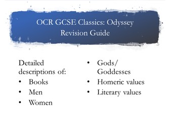 OCR Odyssey Revision Guide