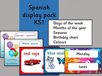 Spanish display pack
