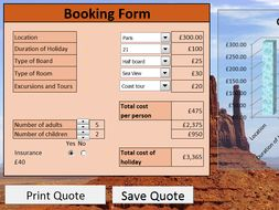 Travel Booking Spreadsheet System