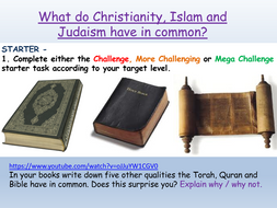 Christianity, Islam, Judaism : Abrahamic Religions