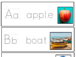 alphabet cards- a is for apple