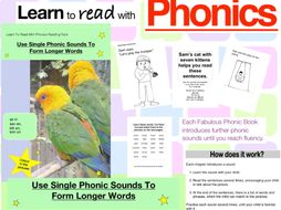 Use Single Phonic Sounds To Form Longer Words (Learn To Read With Phonics Pack)