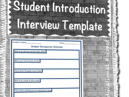 get to know you student introduction interview questions template by